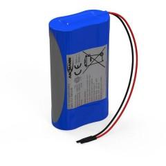 Pacco batteria 2x 18650 2S1P con cavo Li-Ion 7.4 V 2600 mAh