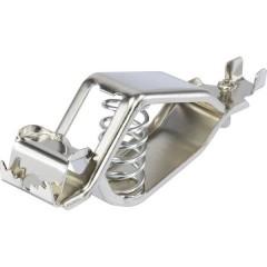 Morsetto batteria, argento, campo max. di serraggio: 18,2 mm, lunghezza: 107 mm Conrad Components 1-78-1, 1 pz.