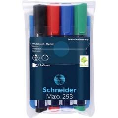 Maxx 293 Kit marcatori per lavagne bianche Nero, Rosso, Blu, Verde