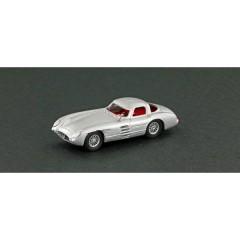 H0 Mercedes Benz 300 SLR Uhlenhaut Coupe, argento, rosso interno