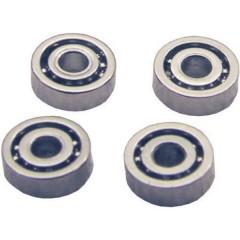 Acciaio Micro cuscinetti a sfera aperto (Ø x A) 3 mm x 1 mm 4 pz.