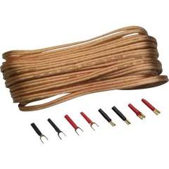 Kit cavi per altoparlanti HiFi per auto 2 x 2.5 mm² 10.00 m placcato oro, incl. spina