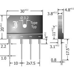 Adattatore illuminazione LED [Presa a 13 poli - Spina a 13 poli]