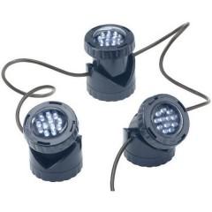 Illuminazione per stagno Kit da 3 LED (monocolore) Blu scuro