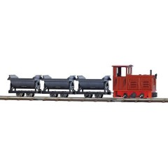 H0f starter kit ferrovia Decauville Starter kit ferrovia
