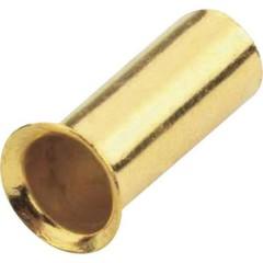 Capocorda 1 x 4 mm² placcato oro