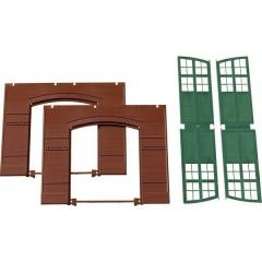 H0 Cancelli, Muri Verde (L x A) 94 mm x 86 mm Kit in plastica da costruire