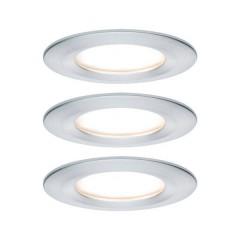 Nova Lampada da incasso per bagno Kit da 3 LED (monocolore) LED 19.5 W IP44 Alluminio