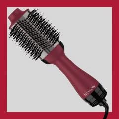 Spazzola per capelli Nero, Rosso con ionizzazione