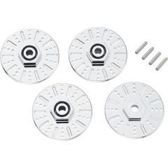 Mozzo ruota con finto freno a disco 1:10 12 mm a 6 spigoli con distanziali da 5 mm Cromo 2 pz.