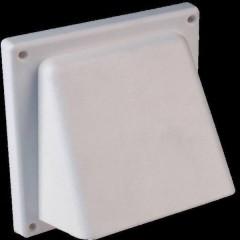 N34810 Griglia per cappa di aspirazione con aletta posteriore Plastica Adatto al diametro del tubo: 12.5 cm