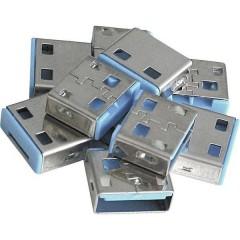 Blocco porta USB USB-Lock Kit da 10 Blu Senza chiavi
