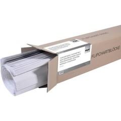 Blocco fogli di ricambio per Flipchart Numero di fogli: 100 a quadretti 68 cm x 98 cm Bianco