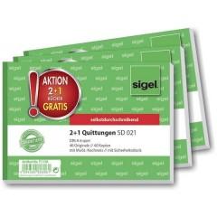 Ricevuta DIN A6 diagonale Numero di fogli: 40 3 Pz/Conf 3 pz.