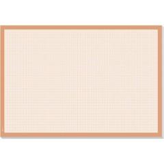 Graph Sottomano Bianco, Arancione (L x A) 595 mm x 410 mm