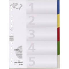 6730 Divisore DIN A4 blank Polipropilene Multicolore 5 schede