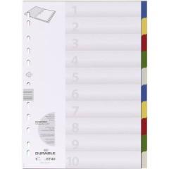 6740 Divisore DIN A4 blank Polipropilene Multicolore 10 schede