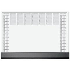 Office Sottomano Giornaliero, Settimanale Nero, Bianco (L x A) 595 mm x 410 mm