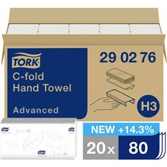 Asciugamani di carta (L x L) 49.60 cm x 25 cm Bianco 1600 pz.