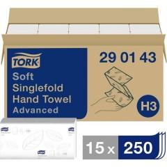 Asciugamani di carta (L x L) 23 cm x 22.60 cm Bianco 15 x 250 Blocchi/Conf 3750 pz.