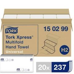 Xpress Multifold Universal Asciugamani di carta (L x L) 23.4 cm x 21.3 cm Bianco 20 x 237 Blocchi/Conf 4740