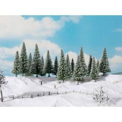 Kit alberi abete innevato 100 fino a 140 mm Verde 8 pz.