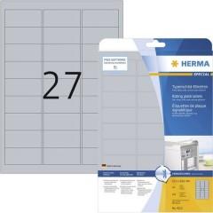 Etichette 63.5 x 29.6 mm Pellicola in poliestere Argento 675 pz. Permanente Etichetta per cartellini e
