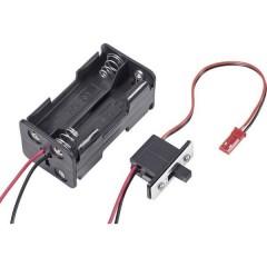 Portabatterie con interruttore per modellismo Sistema innesto: BEC