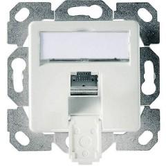 Presa di rete Da incasso Inserto con piastra centrale CAT 6 1 Porta Bianco alpino