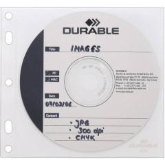 Busta per CD 2 CD/DVD/Blu-ray Polipropilene Trasparente, Bianco 10 pz.