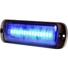 Lampeggiante anteriore W218 12 V/DC, 24 V/DC via rete a bordo Montaggio, Montaggio a vite Blu