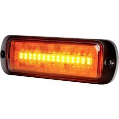 Lampeggiante anteriore W218 12 V/DC, 24 V/DC via rete a bordo Montaggio, Montaggio a vite Arancione
