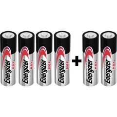 Max 4+2 Batteria Stilo (AA) Alcalina/manganese 1.5 V 6 pz.