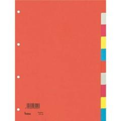 Divisore DIN A4 blank Cartone riciclato Multicolore 10 schede
