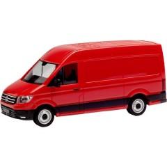 H0 Volkswagen (VW) Crafter 2016 scatola tetto alto, rosso