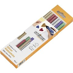 Stick colla a caldo 7 mm Oro, Argento, Verde, Blu, Rosso 16 pz.
