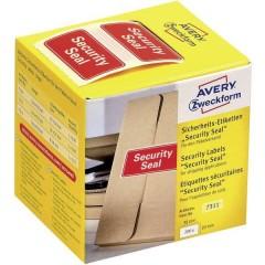 Sigillo di sicurezza Avery Zweckform , 38 x 20 mm, con indicazione Security Seal, 1 rotolo/200 etichette, rosso