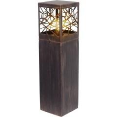 Whitney Lampada da terra per esterni Lampada ad incandescenza E27 60 W Marrone ruggine