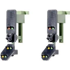 H0 Segnale luminoso con pre segnalazione Testa segnalazione di blocco Modello pronto, già assemblato DB