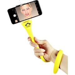 Monkeystick SELMONKEYY Asta per selfie Giallo Bluetooth, incl. Supporto smartphone