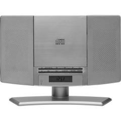 Denver MC-5220 Silver Sistema stereo CD, AUX, FM, incl. telecomando, Montaggio a parete Argento