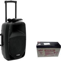 Omnitronic MES-12BT2 Altoparlante portatile PA 30.48 cm 12 pollici a batteria ricaricabile, rete elettrica 1 pz.