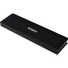 SpeaKa Professional SP-HDS-280 8 Porte Distributore, splitter HDMI Predisposto Ultra HD 3840 x 2160 Pixel Nero