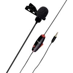 Hama Smart a clip Lavalier Microfono vocale Tipo di trasmissione:Cablato incl. morsetto, incl. borsello, incl.