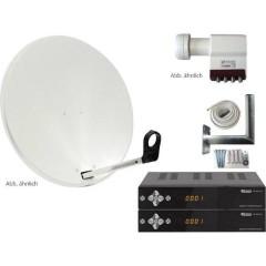 AllVision SAH-S 4000/80 HD Sistema SAT con ricevitore Numero utenti: 4 80 cm