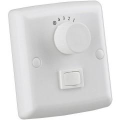 Interruttore a parete del ventilatore Bianco