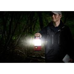 360° LED (monocolore) Lanterna da campeggio 500 lm a batteria Rosso/Nero