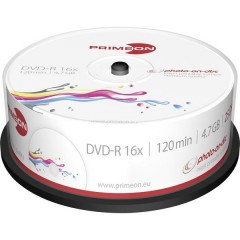 DVD-R vergine 4.7 GB 25 pz. Torre stampabile