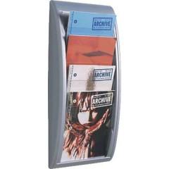 Quick Blick Porta depliant Alluminio DIN A4 Numero scomparti 4 1 pz. (L x A x P) 290 x 650 x 95 mm