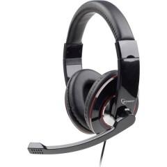 Cuffia Headset per PC 2x 3.5 Jack (Cuffia/Mic.) Filo, Stereo Cuffia Over Ear Nero